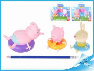 Obrázok Figurky do vany 2ks Peppa Pig 7druhů 18m+ na kartě