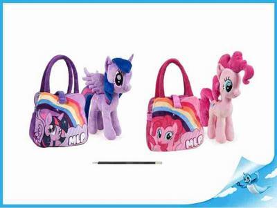 """Obrázok Poník 25cm plyšový s taškou """"My Little Pony"""" 2druhy 0m+"""