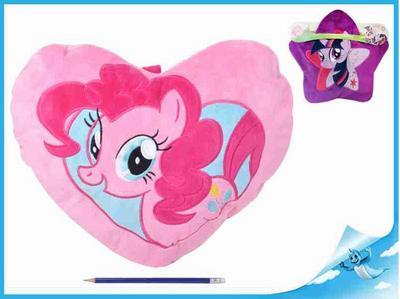 """Obrázok Taška na pyžamo/polštářek plyšový 40x30cm """"My Little Pony"""" 2druhy"""
