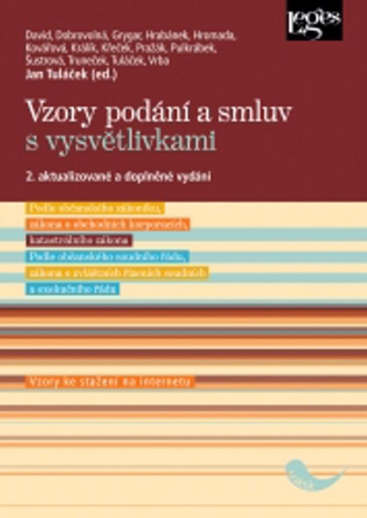 Vzory podání a smluv s vysvětlivkami - Jan Tuláček