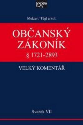 Obrázok Občanský zákoník Velký komentář § 1721-2893
