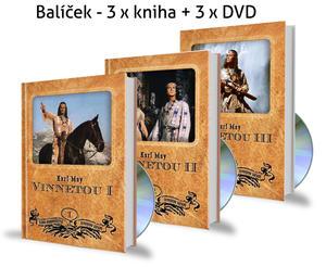 Obrázok Balíček 3 ks Vinnetou + 3 DVD