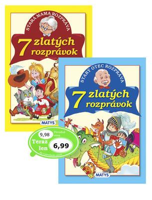 Obrázok Balíček 2 ks Stará mama rozpráva 7 zlatých rozprávok + Starý otec rozpráva 7 zl.