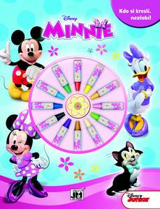 Obrázok Minnie s voskovkami - omalovánka