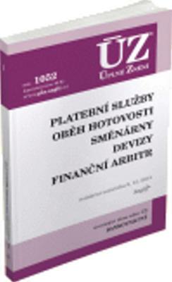 Obrázok ÚZ 1052 Platební služby, oběh hotovosti, směnárny, devizy, finanční arbitr