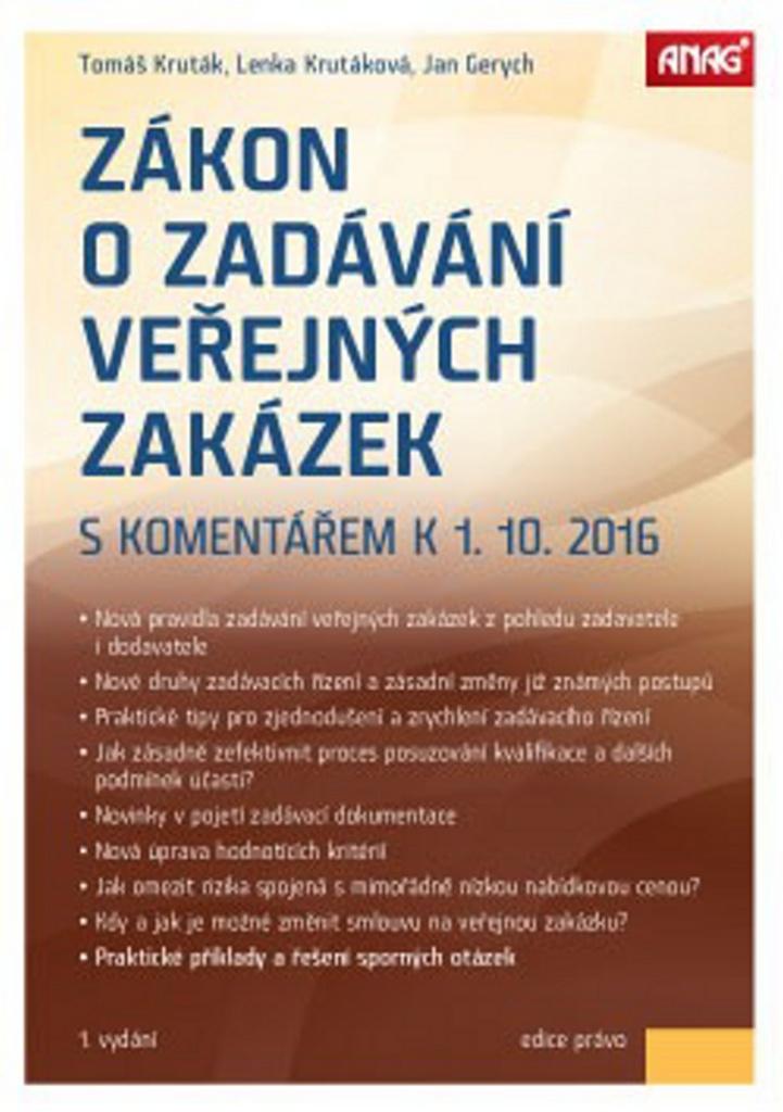 Zákon o zadávání veřejných zakázek - Tomáš Kruták, Lenka Krutáková