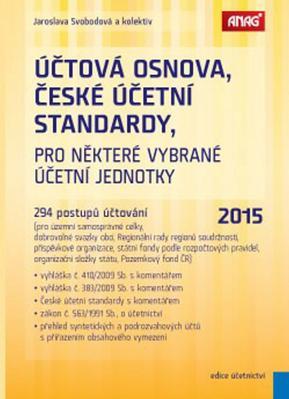 Obrázok Účtová osnova, České účetní standardy pro některé vybrané účetní jednotky 2015