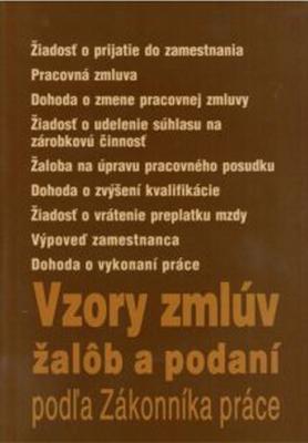 Obrázok Vzory zmlúv žalôb a podaní podľa Zákonníka práce