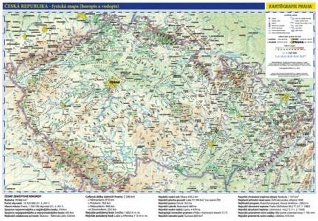 Ceska Republika Administrativni A Obecne Zemepisna Mapa