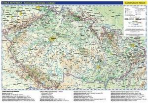 Obrázok Česká republika administrativní a obecně zeměpisná mapa