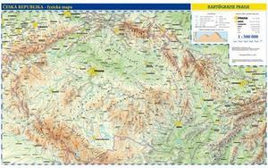 Obrázok Česká republika obecně zeměpisná mapa
