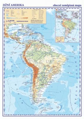 Obrázok Jižní Amerika Obecně zeměpisná mapa