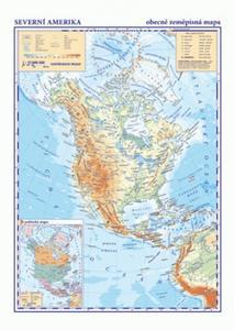 Obrázok Severní a Střední Amerika Obecně zeměpisná mapa