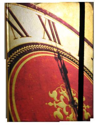 Obrázok Zápisník s gumičkou 130x180 mm hodiny