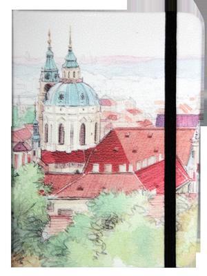 Obrázok Zápisník s gumičkou 130x180 mm Praha