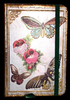 Obrázok Zápisník s gumičkou 95x140 mm motýli