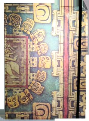 Obrázok Zápisník s gumičkou A4 210x290 mm mayské ornamenty