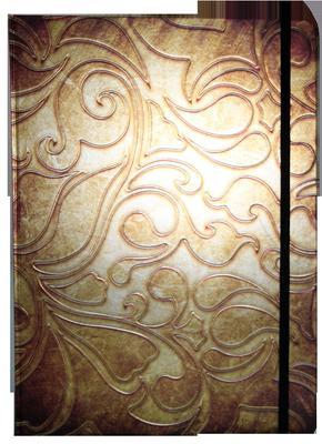 Obrázok Zápisník s gumičkou A4 210x290 mm zlatý ornament