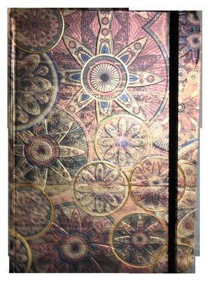 Obrázok Zápisník s gumičkou A5 145x210 mm zlatobronzový ornament