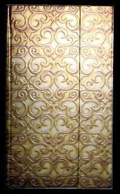Obrázok Zápisník s magnetickou klopou 100x180 mm zlatý ornament