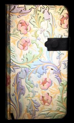Obrázok Zápisník s magnetickým klipem 85x160 mm duhové květiny