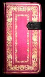 Obrázok Zápisník s magnetickým klipem 85x160 mm se zlatým ornamentem
