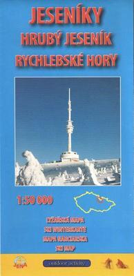 Obrázok Jeseníky 1:50 000 Zimní lyžařská mapa 2015