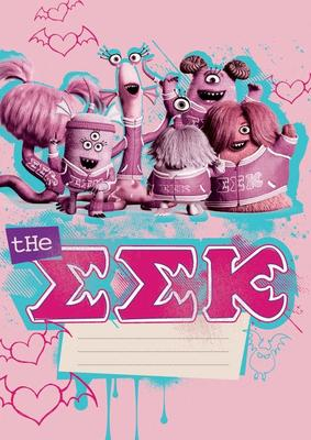 Obrázok Školní sešit Příšerky Girls A4, 40 listů, linkovaný