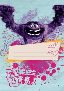 Obrázok Školní sešit Příšerky Girls A5, 40 listů, čtverečkovaný