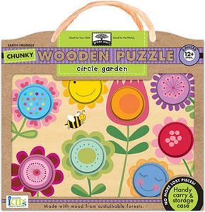 Obrázok Circle Garden Chunky Wooden Puzzle