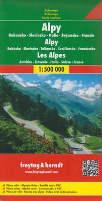 Obrázok Automapa Alpy 1:500 000
