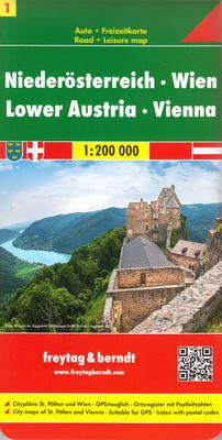 Obrázok Automapa Dolní Rakousko Vídeň 1:200 000