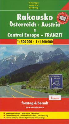 Obrázok Automapa Rakousko a Střední Evropa tranzit 1:500 00/1:1 500