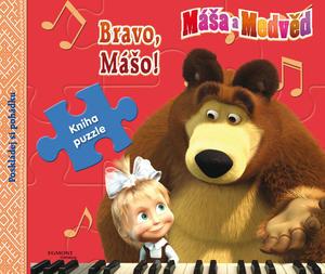 Obrázok Máša a Medvěd Bravo Mášo! Kniha puzzle