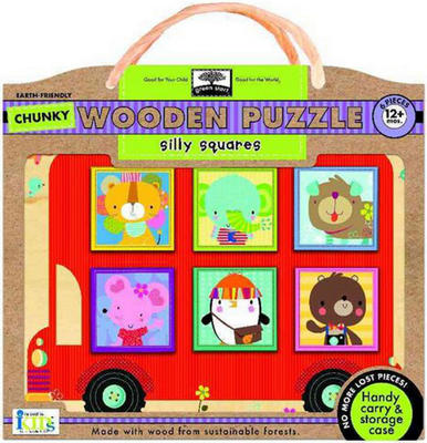 Obrázok Silly Squares Chunky Wooden Puzzle