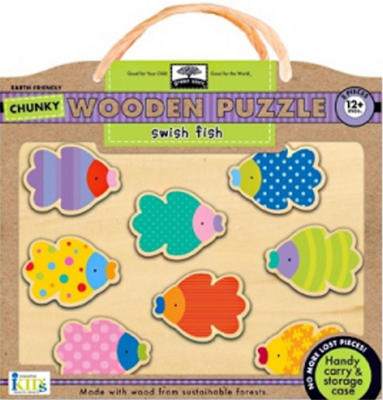 Obrázok Swish Fish Chunky Wooden Puzzle