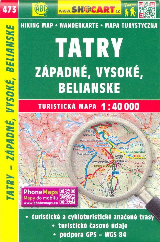Tatry - Západné, Vysoké, Belianske 1:40 000