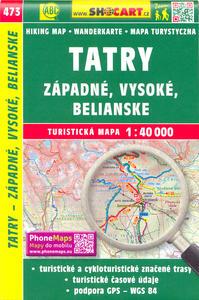 Obrázok Tatry - Západné, Vysoké, Belianske 1:40 000
