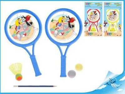 Obrázok Sada tenisová Ferda Mravenec 2ks pálky 32cm s košíčkem