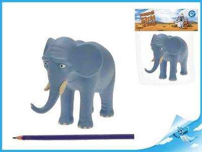 Obrázok Nejmenší slon na světě - postavička táta slon 14cm v sáčku
