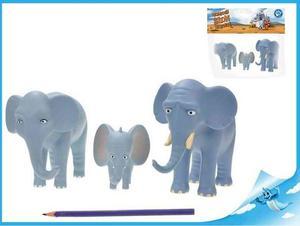 Obrázok Nejmenší slon na světě - postavičky máma, táta, Bedříšek 7,5-14cm v sáčku