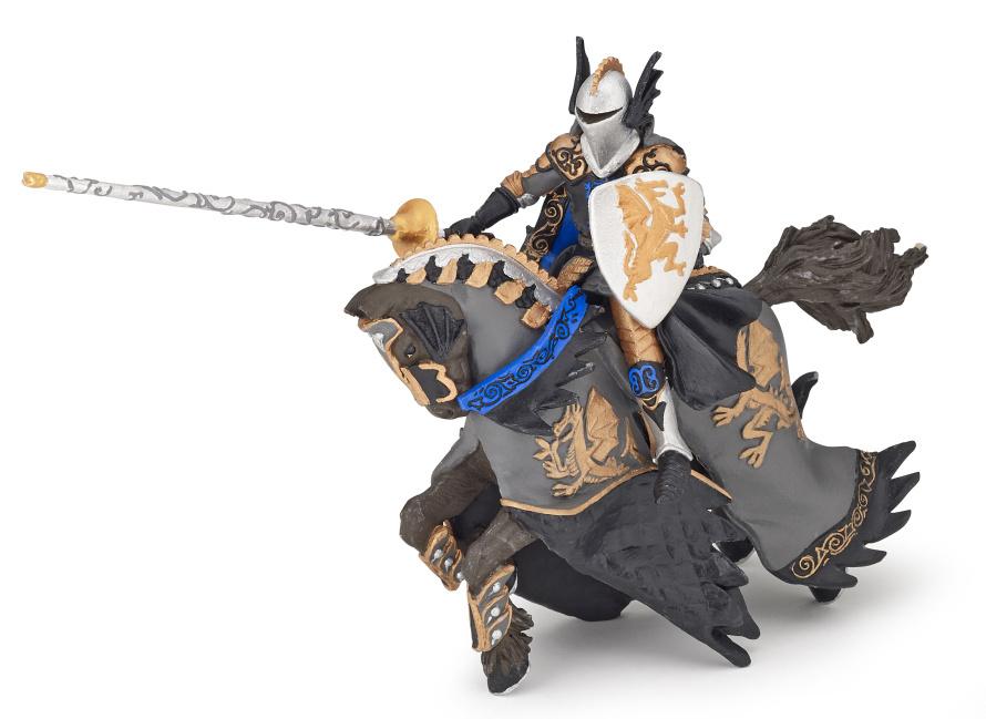 Dračí černý princ s koněm