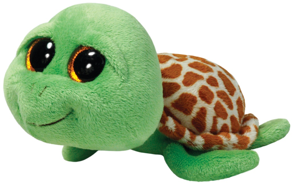 Plyš očka střední želva zelená