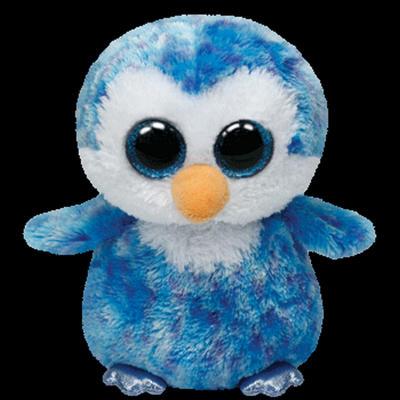 Obrázok Plyš očka střední tučňák modrý