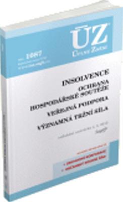 Obrázok ÚZ 1087 Insolvence, Ochrana hospodářské soutěže, Veřejná podpora
