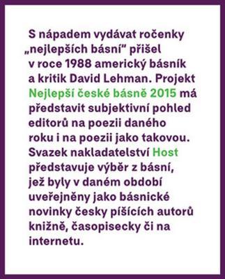 Obrázok Nejlepší české básně 2015