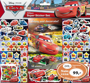 Obrázok Super sticker set 500 kusů Auta