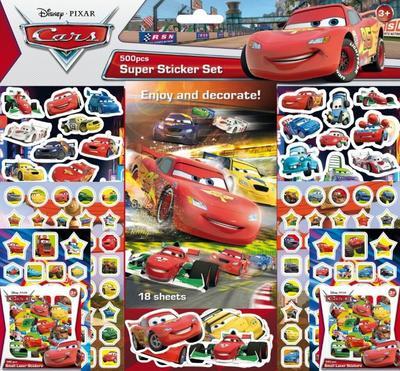 Super sticker set 500 kusů Auta