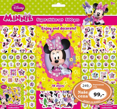 Super sticker set 500 kusů Minnie