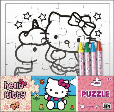 Hello Kitty omalovánkové puzzle